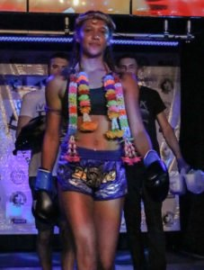 Julia Hopkins Muay Thai boxing trainers